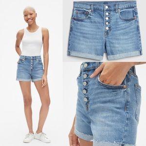 🆕 Gap High Rise Button Fly Denim Shorts 18/34